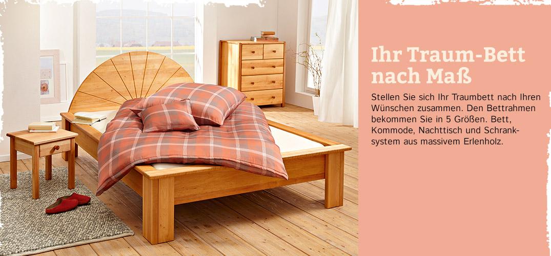 schlafzimmer traum erlenholz im waschb r shop. Black Bedroom Furniture Sets. Home Design Ideas