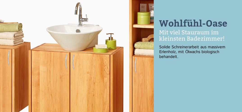 badserie wohlf hl oase erlenholz im waschb r shop. Black Bedroom Furniture Sets. Home Design Ideas