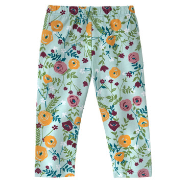 3/4-Leggings, Blumen
