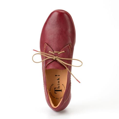 THINK Chilli natur Leder Schuhe Halbschuhe rot NEU 139,95