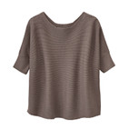 Poncho-Pullover, taupe