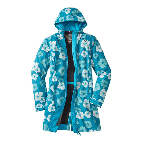 Funktionsmantel BLOOMY COAT Damen, arctic-bunt