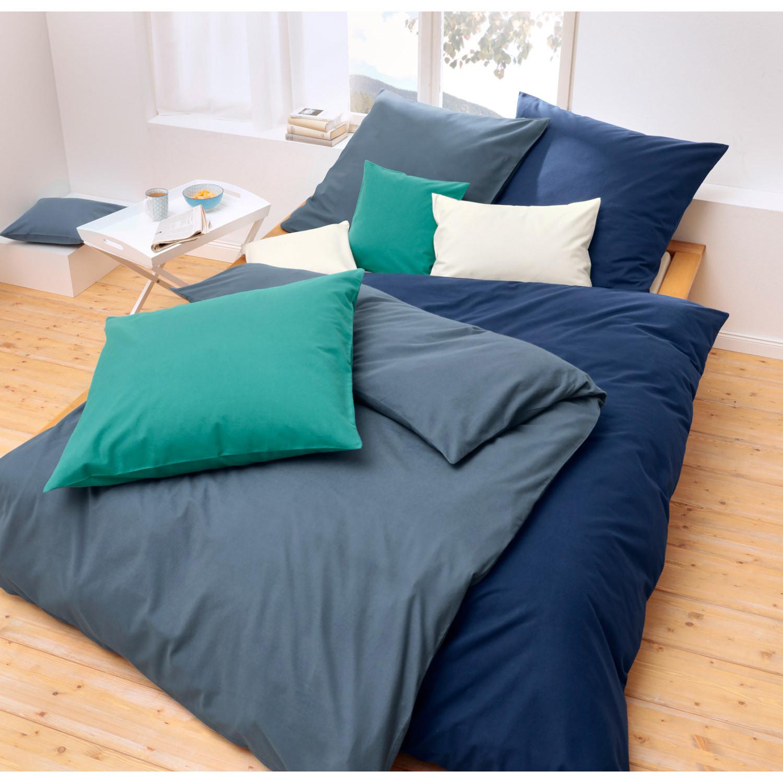 bio flanell bettw sche in unifarben smaragd. Black Bedroom Furniture Sets. Home Design Ideas