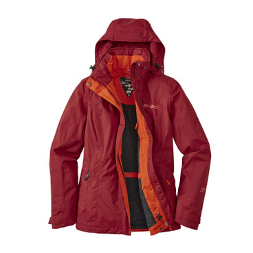 "Damen Funktionsjacke ""Metor Therm"", kirsche"