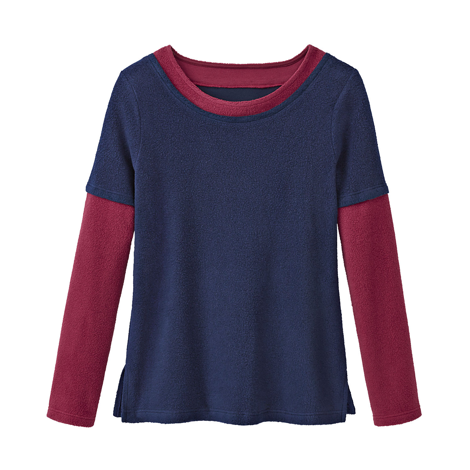2-in-1 Pullover, nachtblau/beere