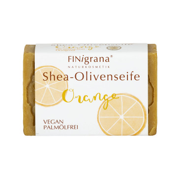 Shea-Olivenseife Orange, 100 g