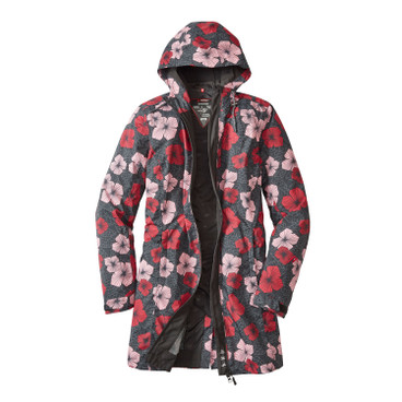 Funktionsmantel BLOOMY COAT Damen, anthrazit-bunt