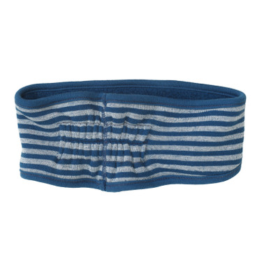 Wende-Stirnband aus Bio-Fleece, atlantik/natur