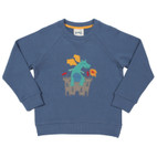 Sweat-Pullover, jeansblau