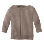 Wollstrick-Pullover, taupe