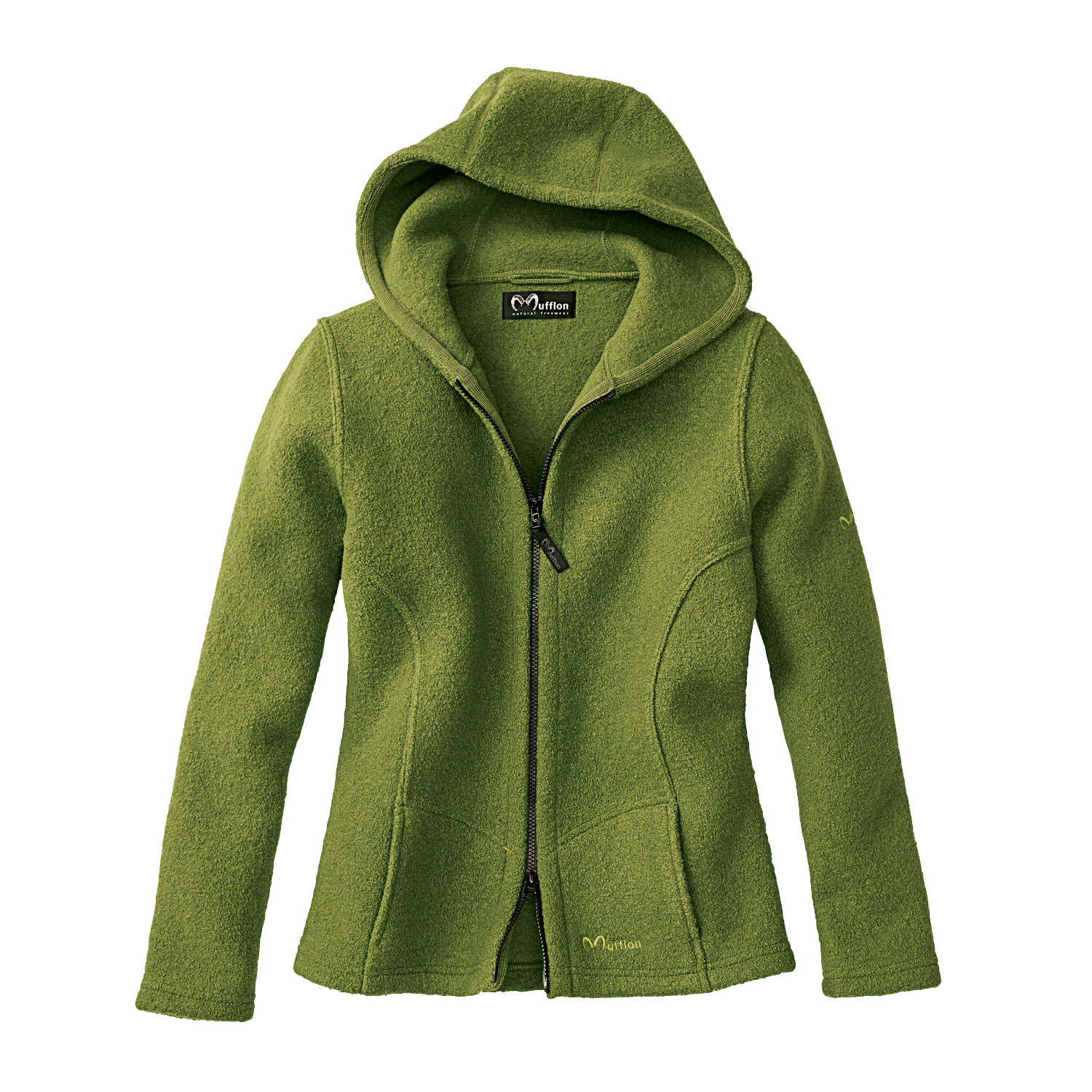 Walkjacke mit Kapuze, avocado
