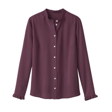 Bluse aus TENCEL®, bordeaux