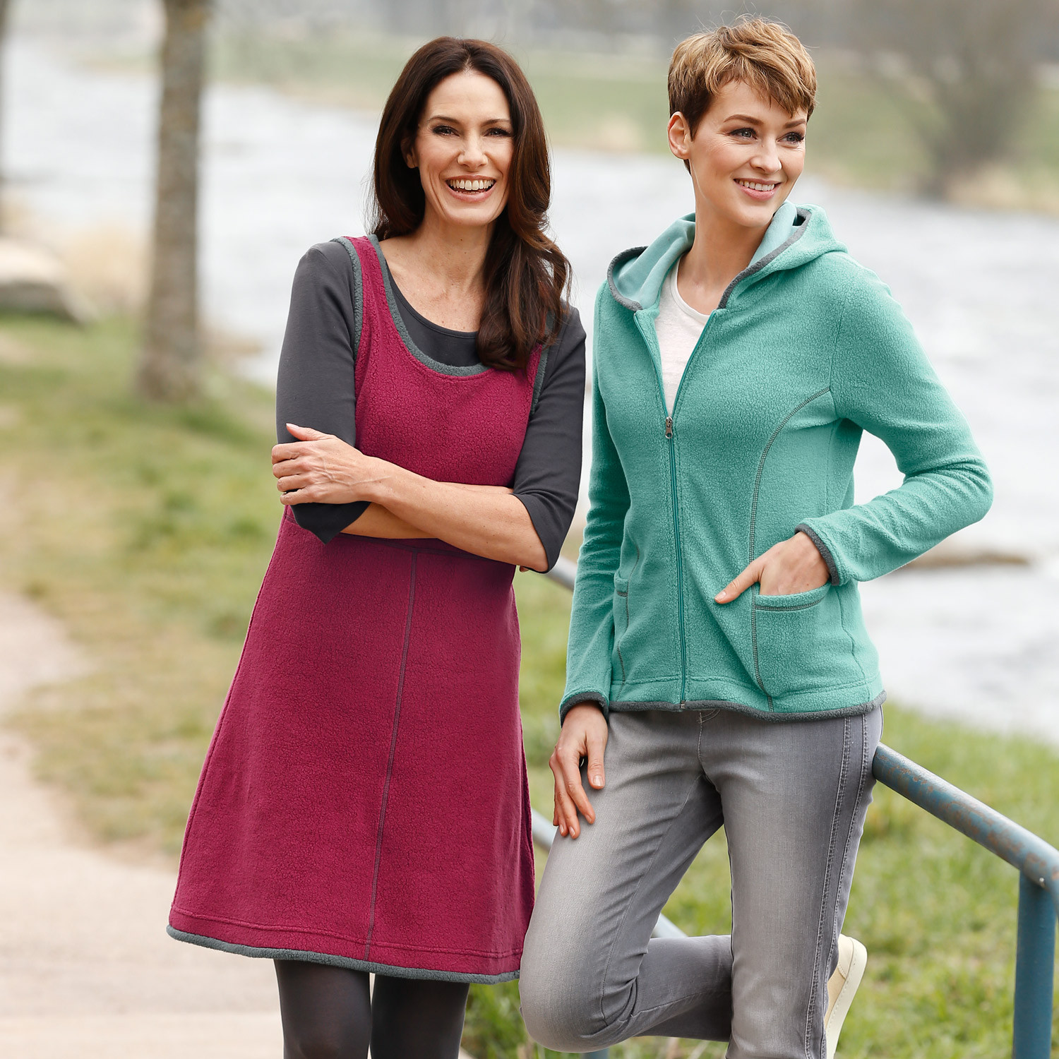 Fleece-Kleid, beere