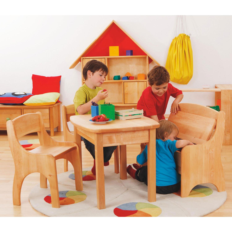 kindertisch aus erlenholz. Black Bedroom Furniture Sets. Home Design Ideas