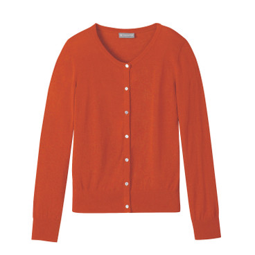 Strickjacke aus Hanf, orange