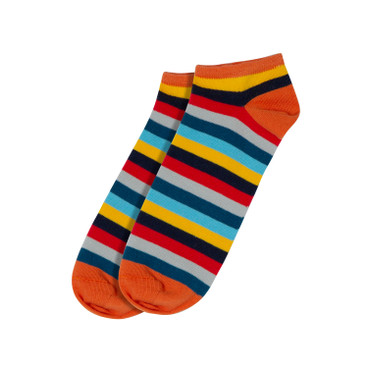 Ringel-Sneakersocken, bunt