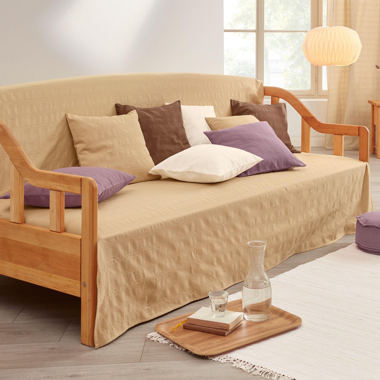 tagesdecke aus bio baumwolle stein. Black Bedroom Furniture Sets. Home Design Ideas