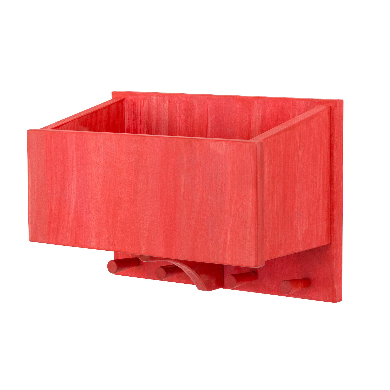 Garderobe rot lasiert for Garderobe rot