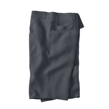 5-Pocket Leinenshorts, schiefer