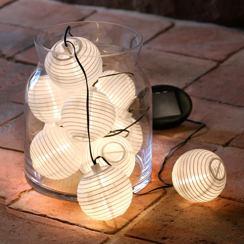 solar lichterkette wei. Black Bedroom Furniture Sets. Home Design Ideas