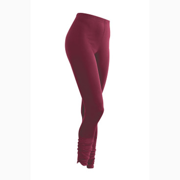 7/8-Seiden-Leggings, bordeaux