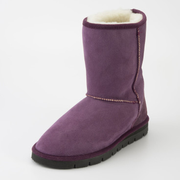 Lammfellboot, purple