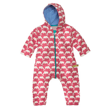 Baby-Outdooroverall Bionic-Finish Eco, koralle