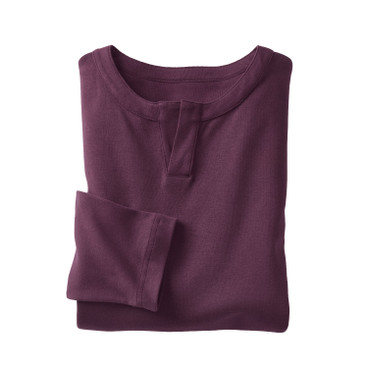 Henley-Shirt, plum