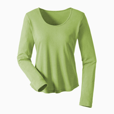 Bourrette Shirt mit Langarm, avocado