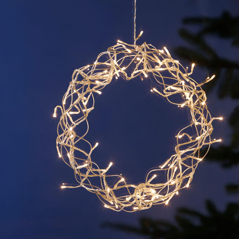 Led Weihnachtsdeko Fenster.Led Lichterkranz Für Fenster