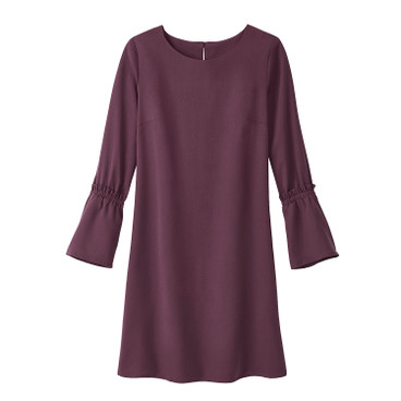 Kleid aus TENCEL®, bordeaux