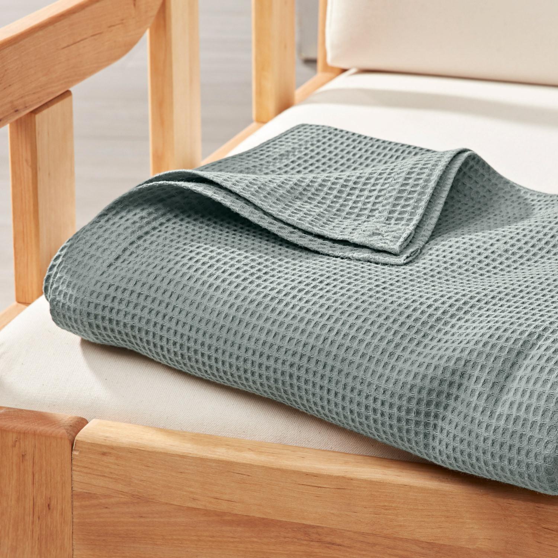 bio waffelpiqu wohn schlafdecke jade. Black Bedroom Furniture Sets. Home Design Ideas