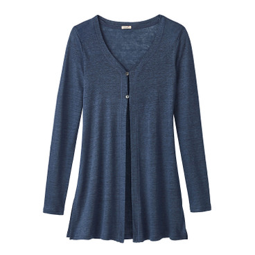 Long-Cardigan, indigo