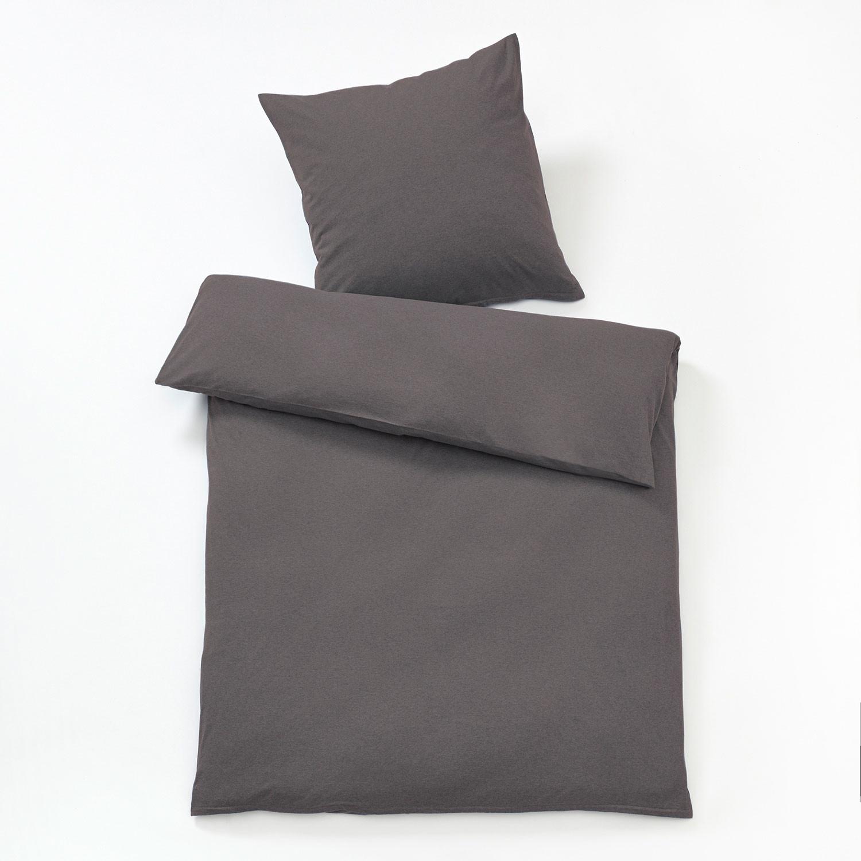 bio melange jersey bettw sche programm anthrazit. Black Bedroom Furniture Sets. Home Design Ideas