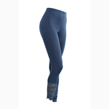 7/8-Seiden-Leggings, nachtblau