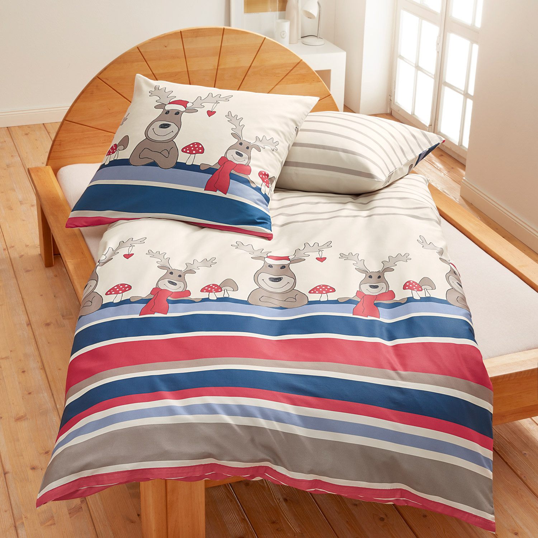 bio feinbiber bettw sche garnitur 2 tlg natur bunt. Black Bedroom Furniture Sets. Home Design Ideas