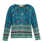 Jacquard-Pullover,jeans-gemust
