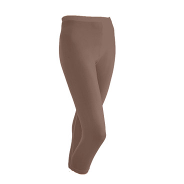 3/4-Seiden-Leggings, taupe