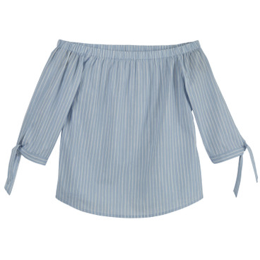 Off Shoulder Bluse, ice blue