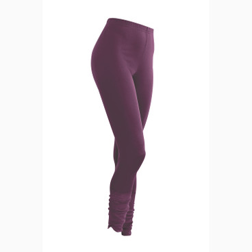 7/8-Seiden-Leggings, plum