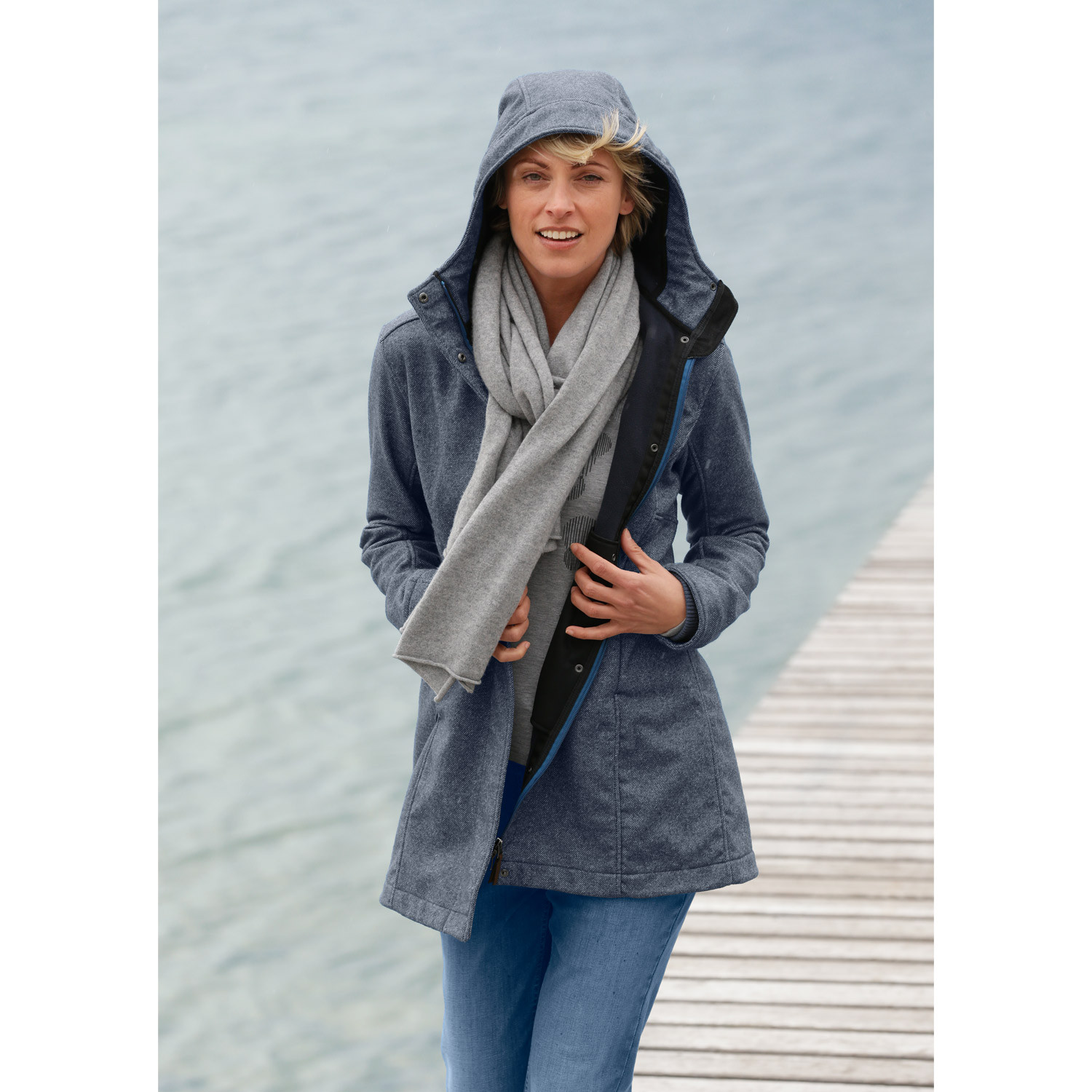 Softshell-Jacke, bordeaux