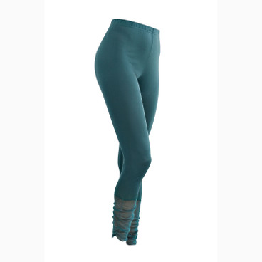 7/8-Seiden-Leggings, smaragd