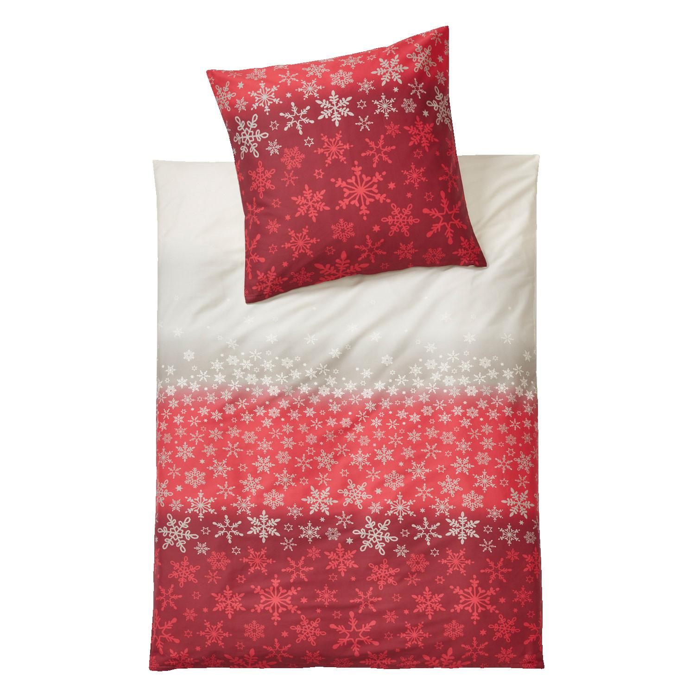 bio feinbiber bettw sche garnitur 2 tlg rot silber. Black Bedroom Furniture Sets. Home Design Ideas