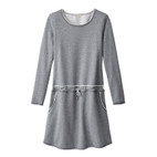 Sweatkleid 1/1Arm,grau-melange
