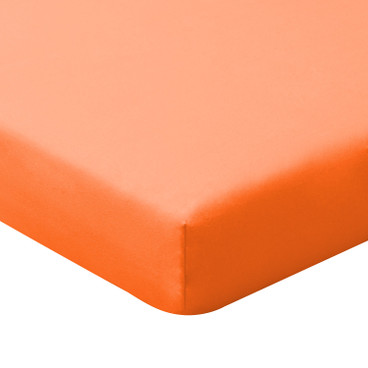 Bio-Jersey-Spannbetttuch, orange