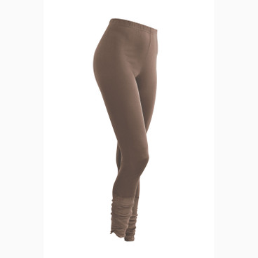 7/8-Seiden-Leggings, taupe