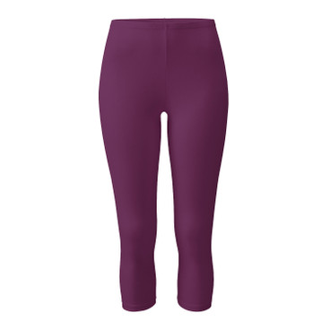 3/4-Leggings, pflaume